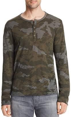 ATM Anthony Thomas Melillo Camouflage Long Sleeve Henley Shirt - 100% Exclusive