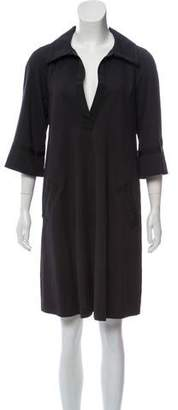 Diane von Furstenberg Virgin Wool-Blend Knee-Length Dress