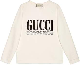 Gucci Oversize sweatshirt with Cities