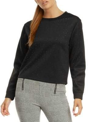 Dex Long-Sleeve Embellished Sweatshirt