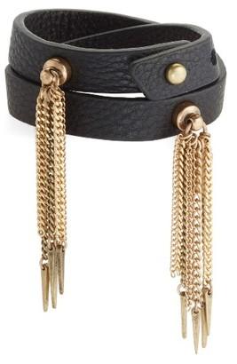 Women's Jenny Bird Luna Warrior Leather Wrap Bracelet $65 thestylecure.com