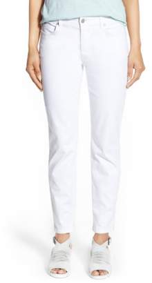 Eileen Fisher Garment Dyed Stretch Ankle Skinny Jeans