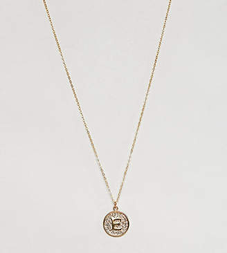 Ottoman Hands gold plated E initial pendant necklace
