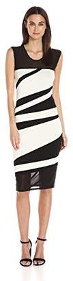 Rachel Roy Women's Color Blocked Sweater Dress