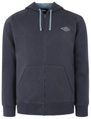 George Umbro Navy Zip Up Hoodie