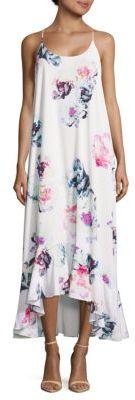 Harper Floral-Print Hi-Lo Dress $154 thestylecure.com