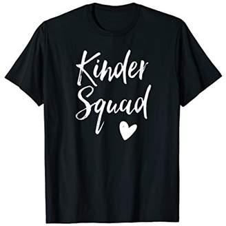 Kinder Squad Shirt Cool Kindergarten Class Shirt Teacher Tee