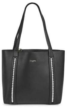 Karl Lagerfeld Paris Finoola Leather Tote and Zip Clutch