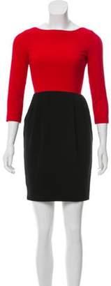 Alice + Olivia Cutout Back Mini Dress black Cutout Back Mini Dress