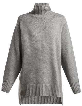 Joseph Roll Neck Cashmere Sweater - Womens - Light Grey
