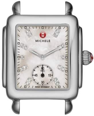 Michele Deco 16 Diamond Dial Watch Head, 29mm x 31mm