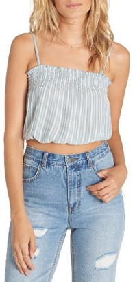 Women's Billabong Sweet Tea Smocked Crop Camisole $34.95 thestylecure.com
