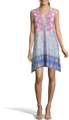 Nicole Miller Studio V-Neck Double-Strap Dress