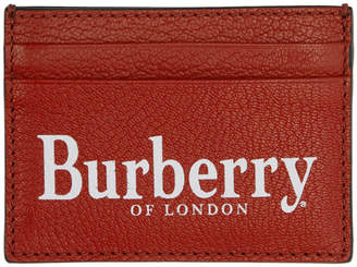 Burberry Black and Red Crest Card Holder