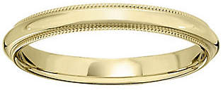 QVC Men's 18K Yellow Gold 3mm Milgrain Wedding Band