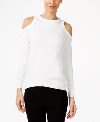 MICHAEL Michael Kors Embellished Cold-Shoulder Sweater $110 thestylecure.com