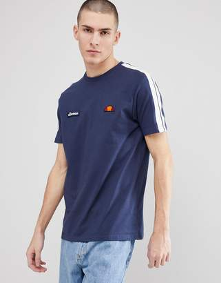 Ellesse T-Shirt With Sleeve Taping In Navy