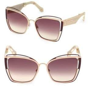 Roberto Cavalli 57MM Square Cat Eye Sunglasses