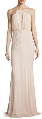 Zac Posen Women's Marianne Beaded Halter Gown