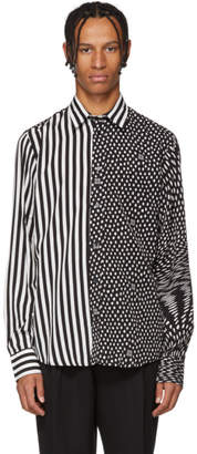 Givenchy Black and White Patterned Shirt