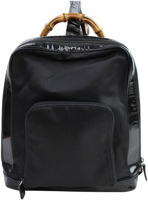 Gucci Vintage Black Synthetic Backpacks