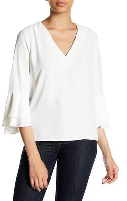 Fate V-Neck Bell Sleeve Blouse