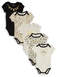Baby's 5-Pack Assorted Bodysuits $48 thestylecure.com