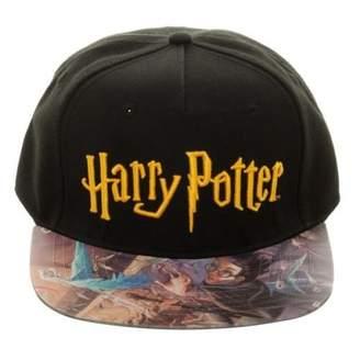 Bioworld Harry Potter Hogwarts Printed Vinyl Flat Bill Adjustable Hat