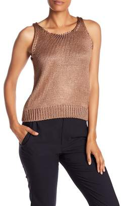 Vince Silk Metallic Knit Tank