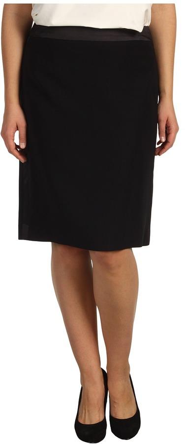 Klein Plus Anne Plus Size Tuxedo Skirt (Black) - Apparel