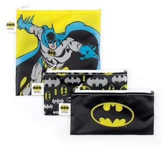 Bumkins Batman Reusable Snack Bag 3-Pack