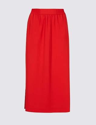 Marks and Spencer Split Side Column Midi Skirt