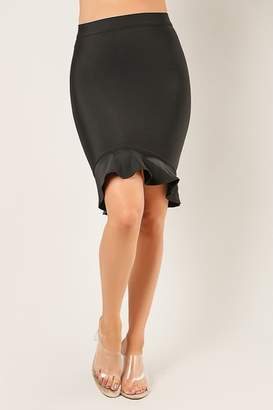 Wow Couture Fluted Hem Bandage Skirt