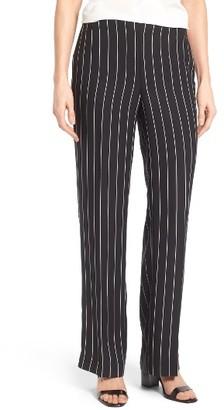 Women's Cece Pinstripe Crepe Straight Leg Pants $99 thestylecure.com