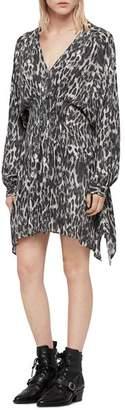 AllSaints Nichola Leo Leopard Print Dress