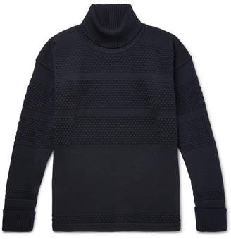 S.N.S. Herning Fisherman Textured-Knit Merino Wool Rollneck Sweater