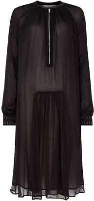 Replay Crépon Midi Dress