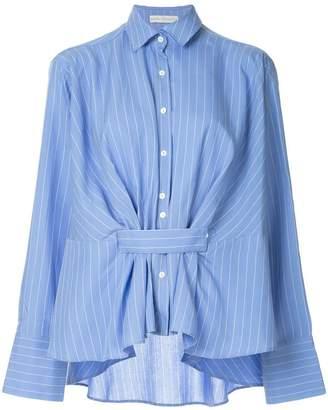 Palmer Harding Palmer / Harding pinstripe belted shirt
