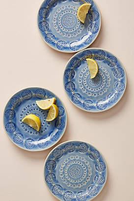 Anthropologie Old Havana Bread Plates, Set of 4