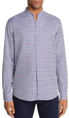 Emporio Armani Chevron Striped Regular Fit Button-Down Shirt