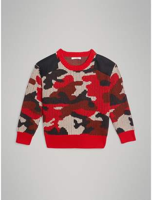 Burberry Camouflage Merino Wool Jacquard Sweater