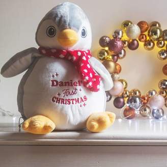 Nell Percy and Personalised First Christmas Penguin