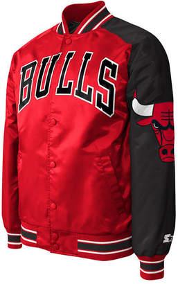 dd9035e4b5d287 G-iii Sports Men Chicago Bulls Starter Dugout Playoffs Satin Jacket