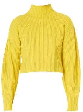 Tibi Structured Wool Pullover Sweater
