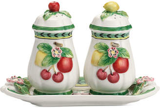Villeroy & Boch Serveware, French Garden Figural Salt and Pepper Shakers with Tray