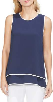 Vince Camuto Layered Contrast Top
