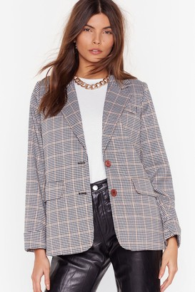 Nasty Gal Nobody's Business Plaid Blazer