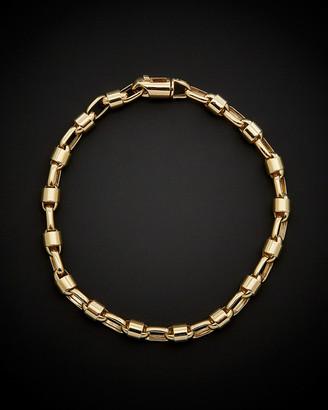 Italian Gold 14K Men's Bullet Link Bracelet