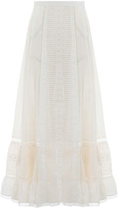 Zimmermann Laelia Panelled Long Skirt