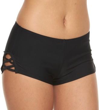 So Mix and Match Criss-Cross Swim Shorts